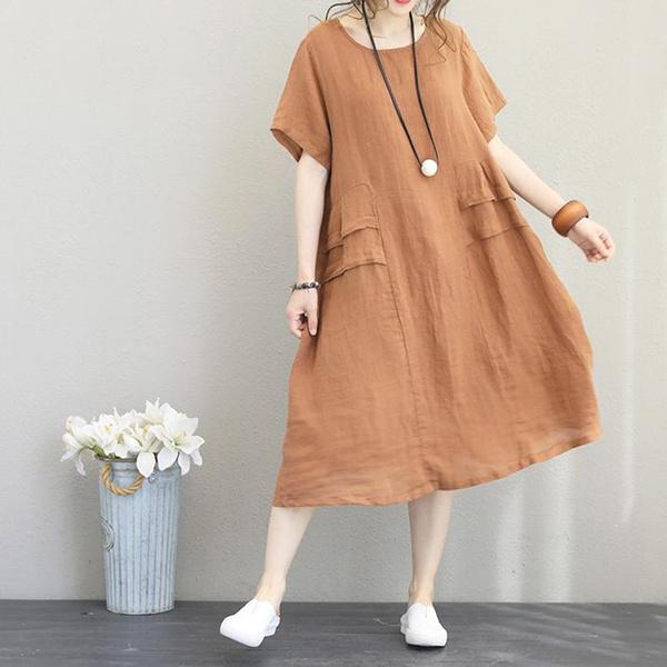 loosedressforwomen, Summer, Shift Dress, Cotton