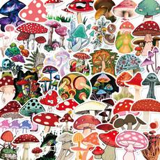 Car Sticker, suitcasesticker, Mushroom, cute