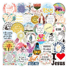 Car Sticker, suitcasesticker, Christian, jesus