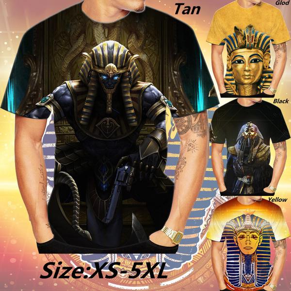 Mens T Shirt, Fashion, 3dmentshirt, pharaohtshirt