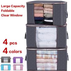 Capacity, foldablestorage, blanketstorage, clothesorganizer