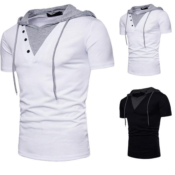 Summer, Plus Size, hooded, hoodedtshirt