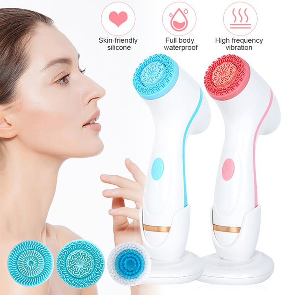 facewashinginstrument, electriccleansinginstrument, Electric, Silicone