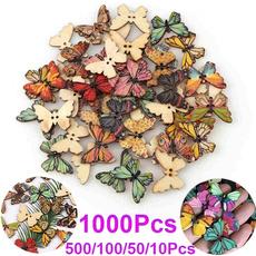 butterfly, sewingbutton, craftdecoration, Butterflies