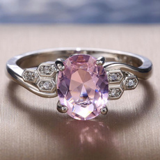 pink, Fashion, Jewelry, Sterling Silver Ring