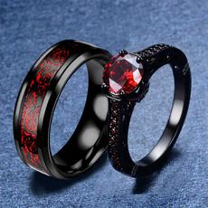 Steel, Couple Rings, DIAMOND, wedding ring
