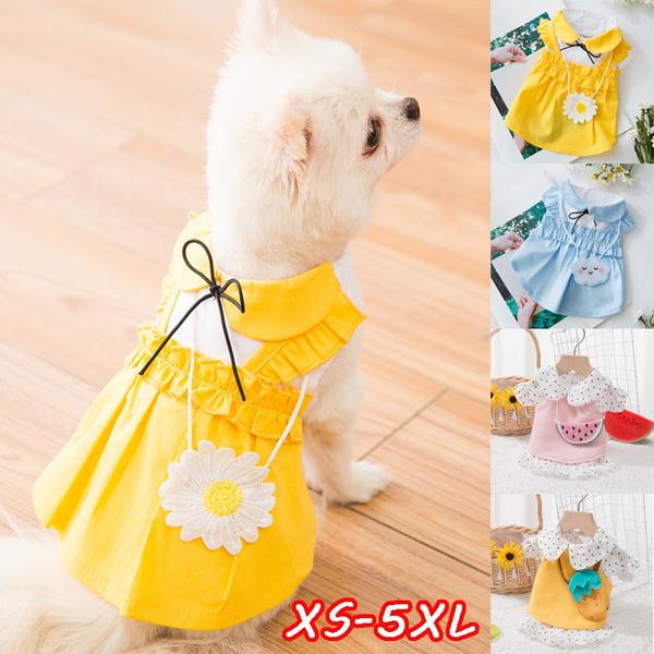 Summer, pet clothes, daisie, dogskirt