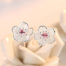 earringsband, Sterling, plumearring, Gemstone Earrings