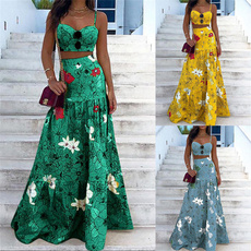 Summer, Two-Piece Suits, Waist, Mini