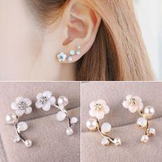 Crystal, Fashion, Jewelry, Pearl Earrings