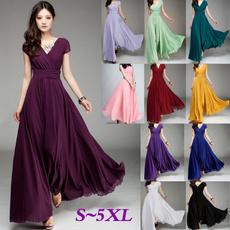 Sleeveless dress, short sleeve dress, Necks, long dress