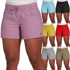 Summer, Shorts, Lace, Elastic