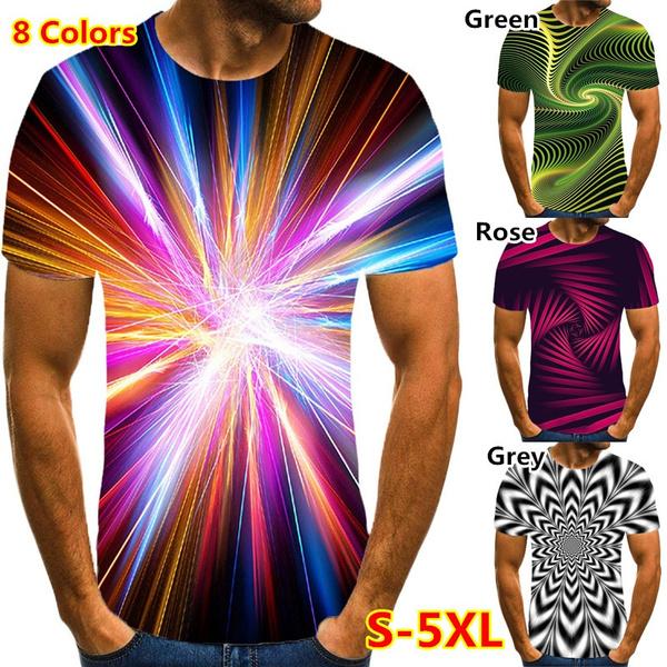 Blues, vertigo, Colorful, Men's Shirt