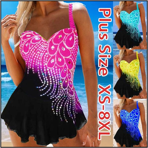 Summer, Plus Size, peacock, Fashion