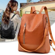 travel backpack, School, casualbackpack, genuine leather bag.