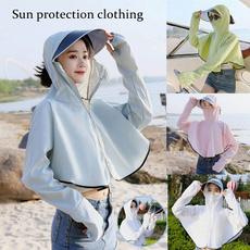 hoodedtop, outdoorsunprotectionclothing, Long Sleeve, summersunprotection