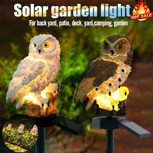 Owl, solarlight, led, Garden