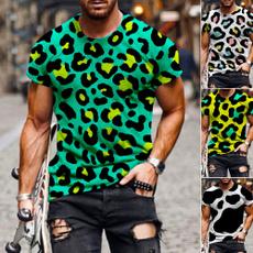 Summer, Men, leopard print, Tops