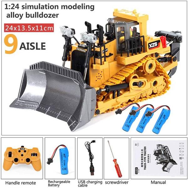 Boy, Toy, Remote, excavator