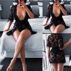 lacenightgown, Plus Size, sexynightgown, Lady Fashion