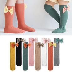 bowknot, Lace, Socks, Knee High