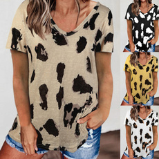 womenscottontshirt, Fashion, Women Blouse, leopard print