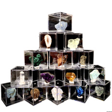 Box, crystalcluster, malachite, amethystquartz