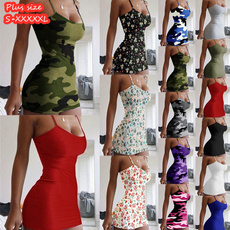 Mini, camouflageskirt, slim, Dress