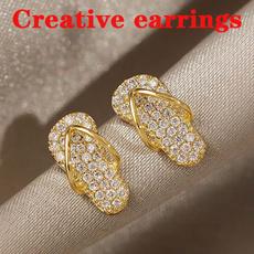 Cubic Zirconia, ananniversarygiftforher, wedding earrings, 14k Gold