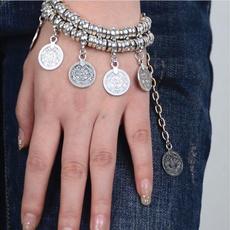 Charm Bracelet, Fashion, Anklets, coinbracelet