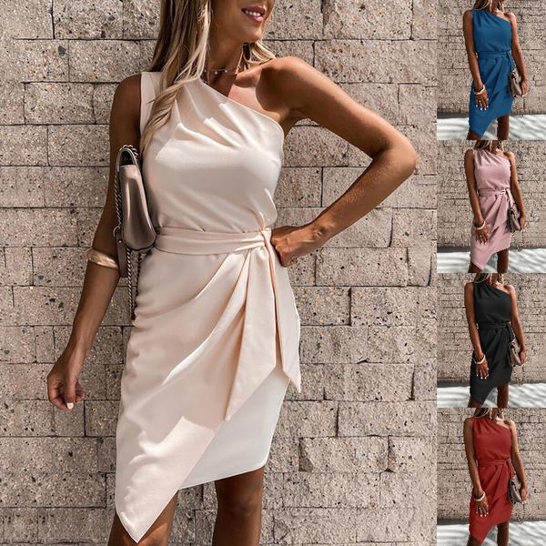 strapless, bandage dress, irregulardres, one shoulder dress