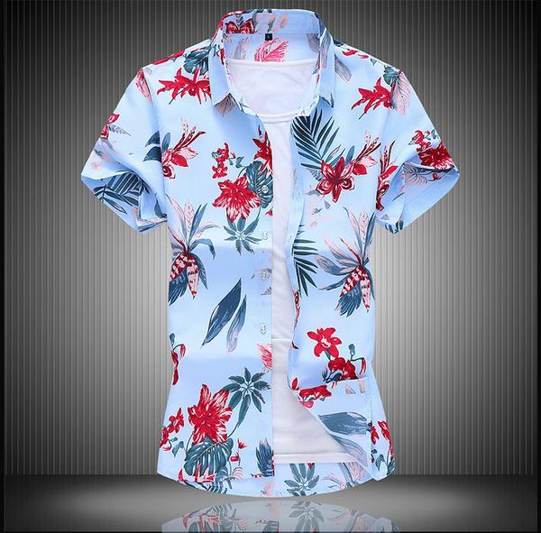 beachshirtsmen, Summer, Plus Size, Shirt