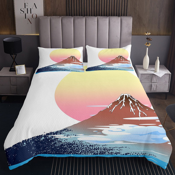 Exotic, Mountain, kidsbedspread, quilted