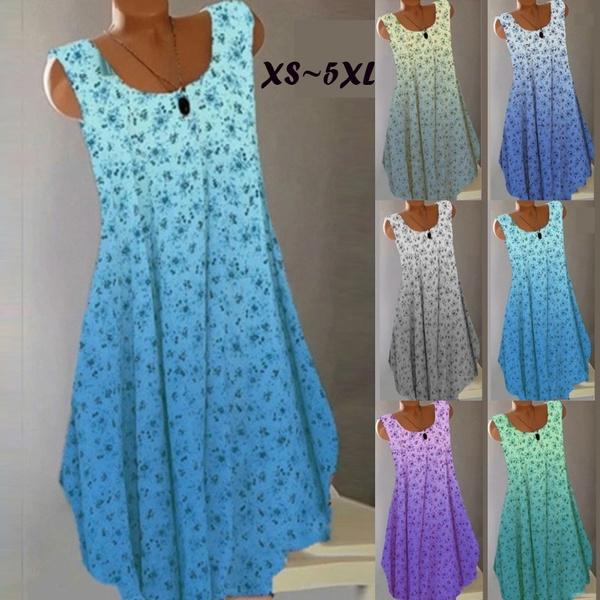 Summer, Plus Size, Necks, Party Dresses
