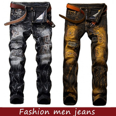 men's jeans, trousers, Jewelry, gold