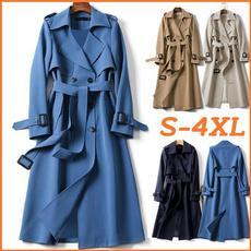 Chic, Vintage, slim, womenslongcoat