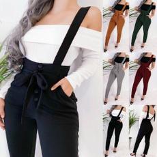 Women Pants, pencil, suspendertrouser, Waist
