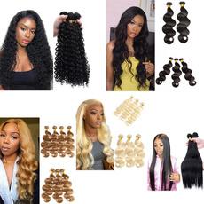 Black wig, wig, Fiber, hairbundleswithclosure