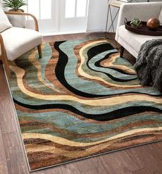 Blues, brown, Rugs & Carpets, Modern