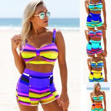 Summer, Fashion, two piece bathing suit, swimsuithighwaistedset