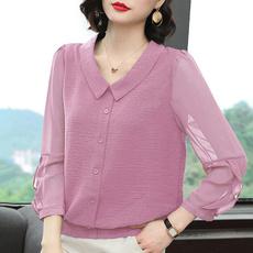 blouse, Summer, Collar, Plus Size