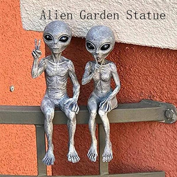 sculpturewalldecoration, alien, art, resinornament