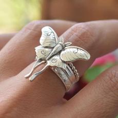 butterfly, Sterling, butterflyring, Jewelry