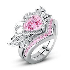 Beautiful, Sterling, DIAMOND, wedding ring