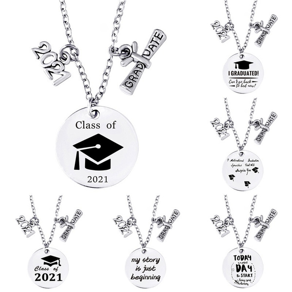 Graduation Gift, Steel, Chain Necklace, Stainless
