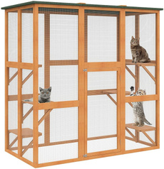 cathouse, Outdoor, Cat Bed, Wooden
