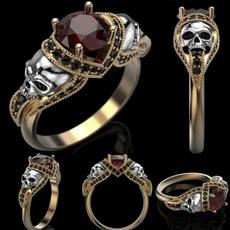 dualtonering, Head, 18k gold, Jewelry