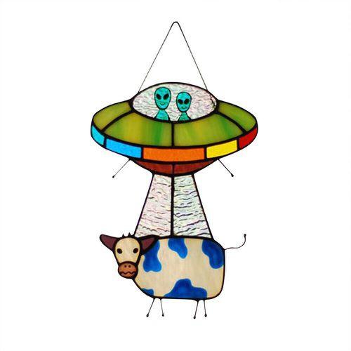 decoration, Jewelry, cow, ufo