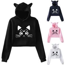 cute, Fashion, hooded, Sleeve