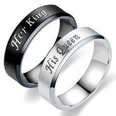 Steel, Couple Rings, Stainless Steel, herforever